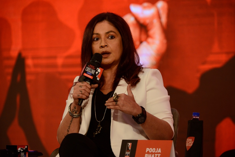 Pooja Bhatt speaking at India Today Conclave east 2018.JPG