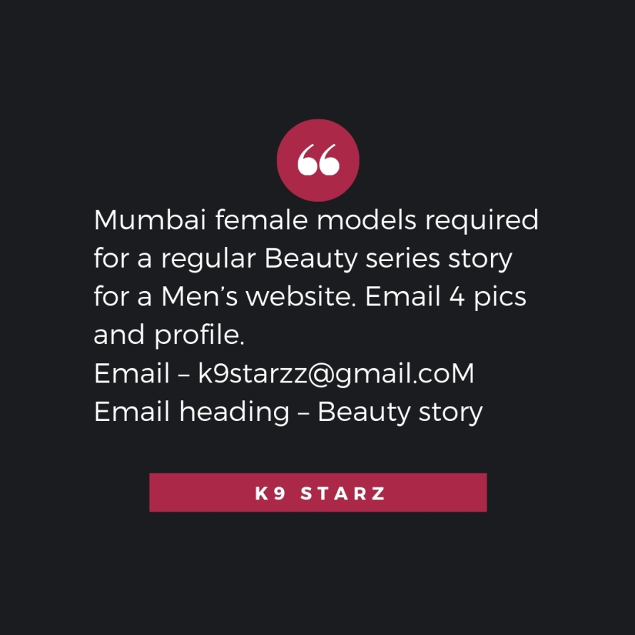 Mumbai TV actors and models – get featured as editorial content on websites. Increase your brand value. Email – k9starzz@gmail.com Email heading – Publicity (4).jpg